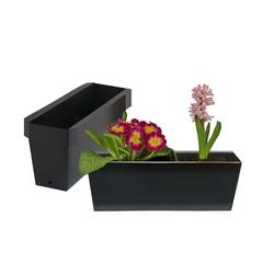 BigDean Blumenkasten Pflanzkasten Palette Paletten Pflanzkübel 35,5 x 12,5 x 12 cm Palettenkasten (12 Stück)