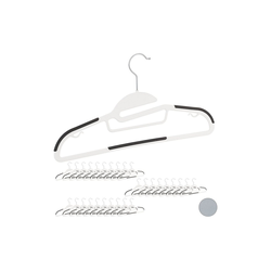 relaxdays Kleiderbügel Kleiderbügel Set Anti-Rutsch