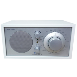 Tivoli Audio Model ONE BT Weiß/Silber UKW-Radio (AM-Tuner,FM/UKW-Tuner,Bluetooth-Empfänger,Retro-Radio)