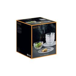Nachtmann Geschirr-Set Bossa Nova Glas Brunch Set 8-teilig (8-tlg), Glas