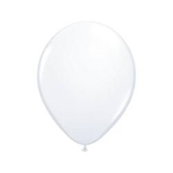 Folat Luftballon Luftballons metallic rot 30 cm, 50 Stück weiß