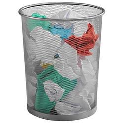 Zeller Meshline Papierkorb 17,5 l alu