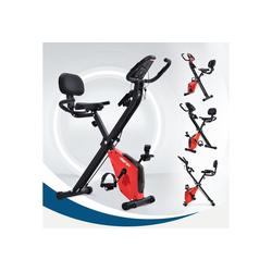 Gotui Heimtrainer, X-Bike Heimtrainer mit Pulssensoren, Fitnessrad für Heimtrainer, gepolsterter Sitz und Rückenlehne, Rot
