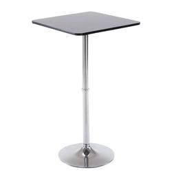 CLP Bartisch Stehtisch eckig, quadratischer Stehtisch Holz-Tischplatte schwarz