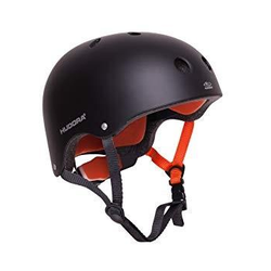 HUDORA 84103 - Skaterhelm, Skateboard-Helm, Scooter-Helm, Fahrrad-Helm, Gr. 51-55, anthrazit