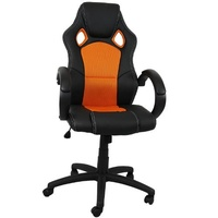 TecTake Racing schwarz / orange