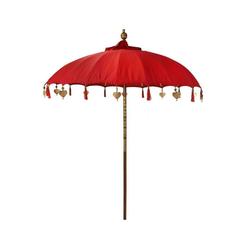Oriental Galerie Sonnenschirm Balinesische Sonnenschirme Variante 180 cm Ø, Handarbeit rot