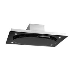 Deckenhaube Dunstabzugshaube 220W Touch Glas LED »Secret Service«, Dunstabzug, 27254262-0 schwarz schwarz