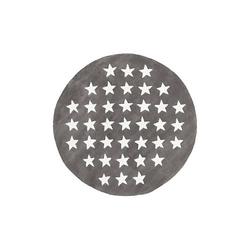 Kurzflorteppich - Cameroon - Mora Grau grau Gr. 160 x 160