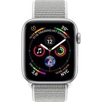 Apple Watch Series 4 GPS + Cellular 44 mm Aluminiumgehäuse silber mit Loop Sportarmband muschel