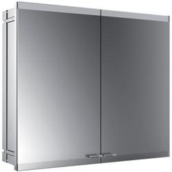 EMCO Lichtspiegelschrank evo ASIS Unterputz, 800 x 700 mm, 2-türig mit LS, mit SH