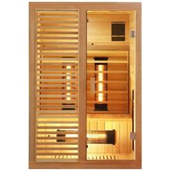 Dewello Infrarotkabine Hamlin Vollspektrum, BxTxH: 130 x 105 x 190 cm, 50 mm, für bis zu 2 Personen