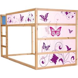STIKKIPIX Möbelfolie IM21, Pink World Möbelsticker/Aufkleber für das Hochbett KURA von IKEA - Möbel Nicht Inklusive