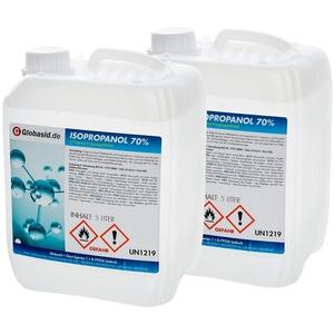 2 x 5 L Isopropanol 70% Isopropylalkohol 2-Propanol Lösungsmittel Fettlöser Nagellackentferner