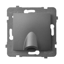 Kabelanschluss - Steckdose grau matt Ospel Aria GPPK-1U/m/70