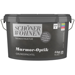 SCHÖNER WOHNEN-Kollektion Spachtelmasse Marmor-Optik Grundspachtel, 5 kg, abtönbar