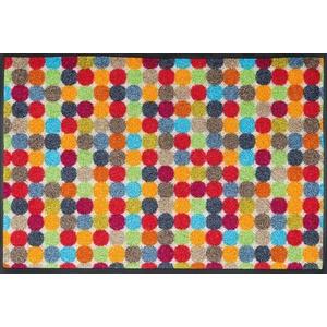 wash+dry Fußmatte, Mikado Dots 50x75 cm, innen und außen, waschbar