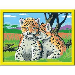 Ravensburger Malen-nach-Zahlen Kleine Leoparden