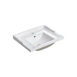 Lomadox Waschbecken, Keramik Waschbecken/Waschtisch 60cm CELAYA-56 weiß B/H/T ca. 61/22/46 cm