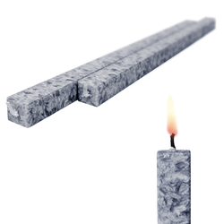 Wachskerze 2-er Set Stein amabiente - Kommunionkerze Bio-Stearin rußfrei 40 cm - Stein