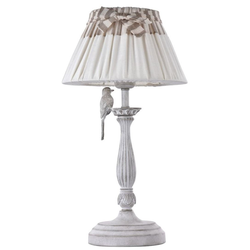 Casa Padrino Jugendstil Tischleuchte Antik Weiß Ø 26 x H. 47 cm - Tischlampe im Jugendstil