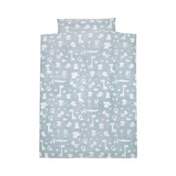 Bettwäsche Kinderbettwäsche Zootiere, Baumwolle, blau, 100 x, Alvi® blau