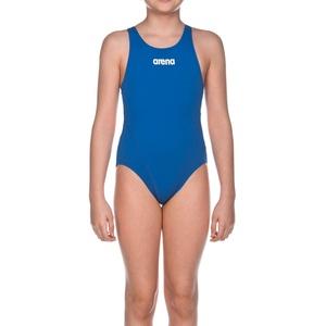 Arena Mädchen Badeanzug Solid Swim Tech Jr,  Blau (Königsblau/weiß), 116 (6-7)