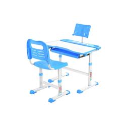 Sross Kinderschreibtisch Kinderschreibtisch Schreibtisch Verstellbare Neigung Kinderschreibtisch mit Stuhl blau