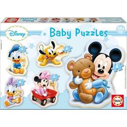 Carletto 9213813 - Educa, Baby Puzzles, Disney, Mickey, Puzzle, 1x3/3x4/