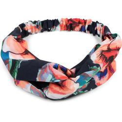 styleBREAKER Haarband Haarband mit Blumen Muster und Twist Knoten, 1-tlg., Haarband mit Blumen Muster und Twist Knoten blau
