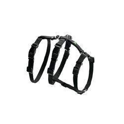 Hunter Hunde-Geschirr Panikgeschirr Vario Rapid, Nylon schwarz 38 cm - 52 cm