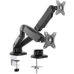 ICY BOX IB-MS304-T 2fach Monitor-Tischhalterung 25,4cm (10 ) - 68,6cm (27 ) Neigbar, Schwenkbar, Dre