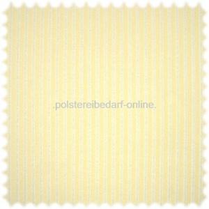 AKTION Trevira CS Velours Samt Streifen Möbelstoff Triest Pastell Gelb / Perlweiss