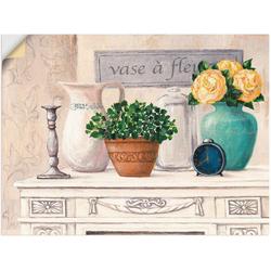 Artland Wandbild Vasen mit Blumen, Vasen & Töpfe (1 Stück) 80 cm x 60 cm
