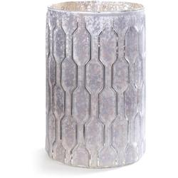 CHRISTMAS GOODS by Inge Windlicht, mit erhabener geometrischer Struktur weiß Kerzenhalter Kerzen Laternen Wohnaccessoires
