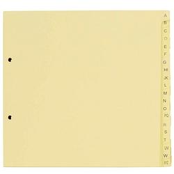 5 dots Ordnerregister   DIN A4 Halbformat, Überbreite A-Z gelb 20-teilig