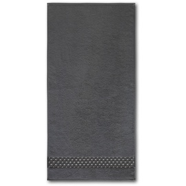 DYCKHOFF Frottierserie Pure Elegance' Mesh silberglanz Handtuch 50 x 100 cm, graphit - Grau