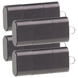 4er-Set Mini-Cardreader & USB-Stick für microSD bis 128 GB, USB A & C