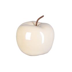 Gasper Deko-Apfel Perl Effect in creme, 15 x 12,5 cm