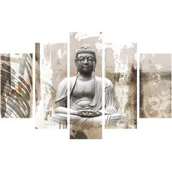 Art for the home Leinwandbild Buddha, Buddha (Set, 5 Stück)