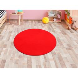 Primaflor-Ideen in Textil Kinderteppich SITZKREIS, rund, 5 mm Höhe, Spielteppich ideal im Kinderzimmer rot Kinder Spielteppiche Kinderteppiche Teppiche
