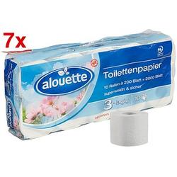 AKTION: alouette Toilettenpapier 3-lagig 70 Rollen