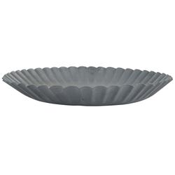 Ib Laursen Kerzenhalter IB Laursen Kerzentablett Metall Grau 19 cm