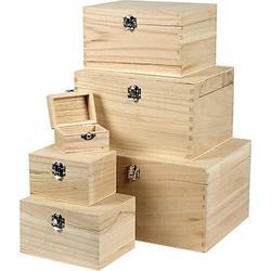 Holzkästen-Set, 6 Stück, Kaiserbaum