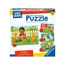 Ravensburger Steckpuzzle ministeps® Mein allererstes Puzzle: Streichelzoo, Puzzleteile
