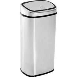 HOMCOM Mülleimer mit Sensor silber 40,5 x 29,5 x 78 cm (LxBxH)   Auomatik Abfalleimer Kücheneimer Müll Abfall