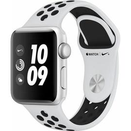 Apple Watch Nike+ Series 3 GPS 38 mm Alumiumgehäuse silber mit Nike Sportarmband pure platinum/schwarz