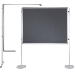 Stellwandtafel Whiteboard/Filz 120x150cm grau