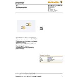 Weidmüller AIMESA VRM 2,09 1120920000 Abisoliermesser-Ersatzmesser