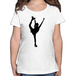 Shirtracer T-Shirt Eiskunstläuferin Einzellaufen - Sport Kind - Mädchen Kinder T-Shirt 128 (7/8 Jahre)